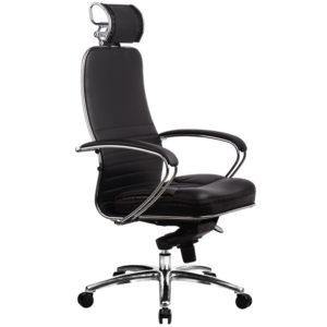 """Кресло руководителя Метта """"Samurai"""" KL-2.02, 3D подголовник, кожа черная"""