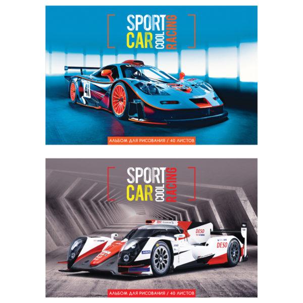 """Альбом для рисования 40л., А4, на скрепке ArtSpace """"Cool sport car"""""""