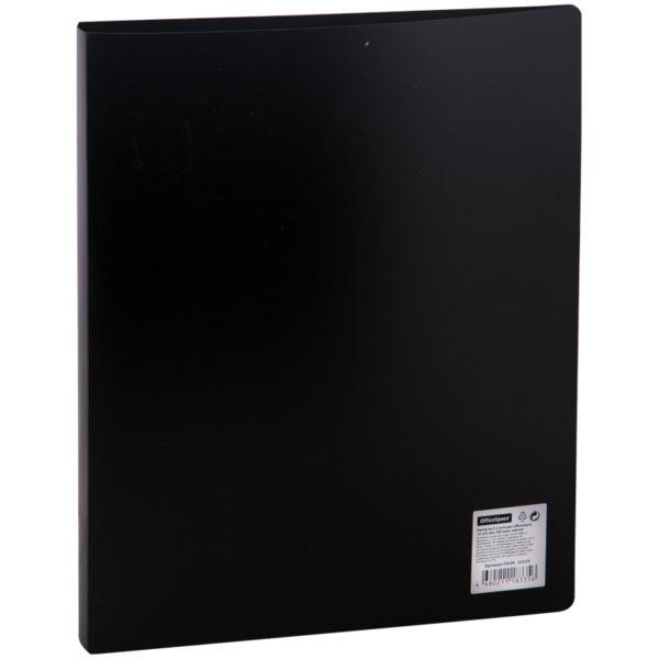Папка на 2-х кольцах OfficeSpace, 25мм, 500мкм, черная