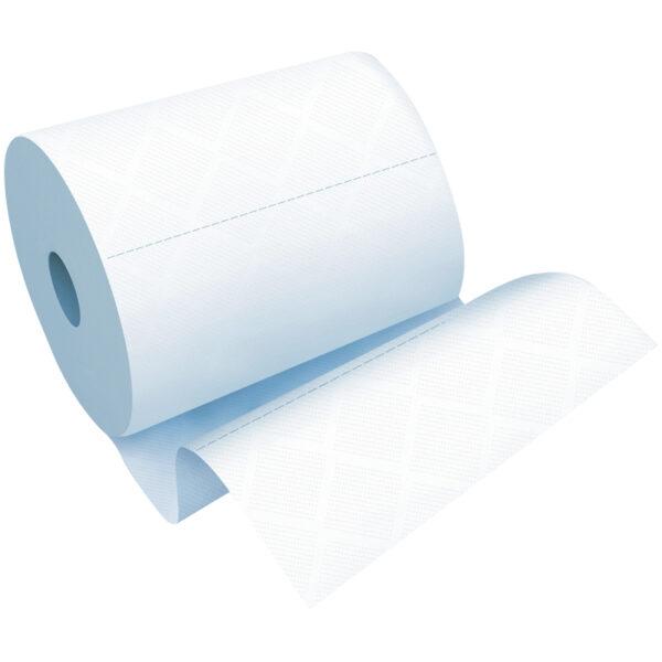 Полотенца бумажные в рулонах OfficeClean, 1 слойн., 280м/рул, ЦВ, ультрадлина, перфорац., белые
