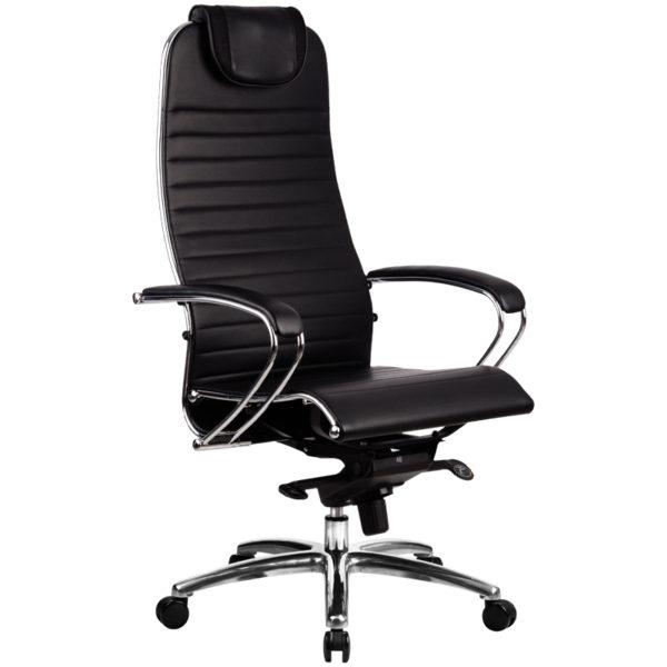 """Кресло руководителя Метта """"Samurai"""" K-1.02, кожа, черный"""