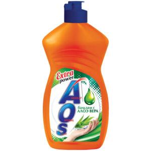 "Средство для мытья посуды AOS ""Бальзам Алое вера"", 450мл"