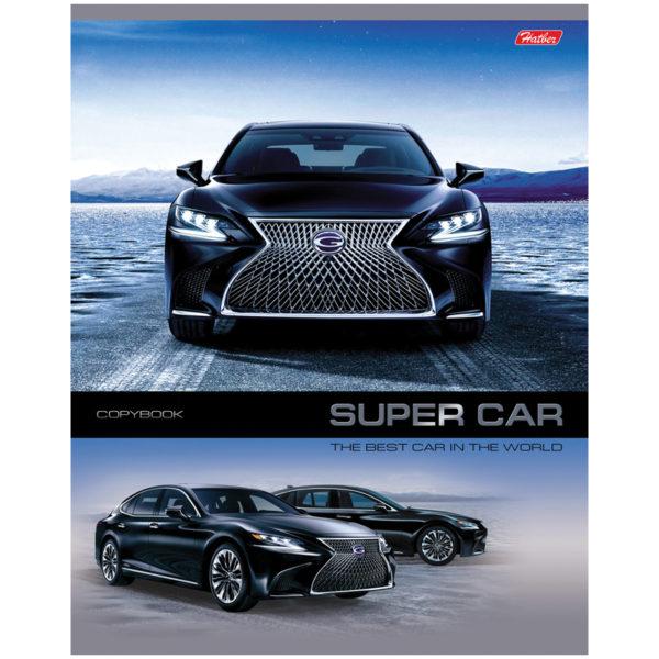 """Тетрадь 48л., А5, клетка Hatber """"Super Cars"""""""