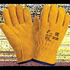 Перчатки ДРАЙВЕР СМ, (0128), спилок, искуственный мех