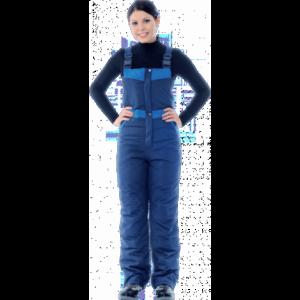 Полукомбинезон ЗИМУШКА утеплённый, т/синий-василёк, женский
