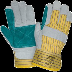 Перчатки ДОКЕР, (P2201/0110), спилок, х/б, усиленный наладонник, жесткий манжет, подкладка