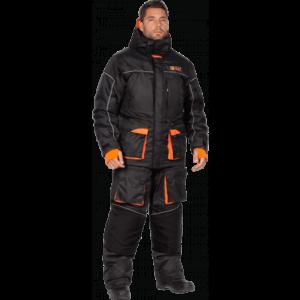 Костюм ЧЕМАЛ утеплённый, черный-оранжевый