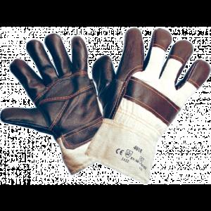 Перчатки ЗАЩИТА, (Е0401) кожа, х/б ткань