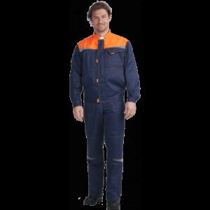 Костюм КМ-10 ЛЮКС, т.синий-оранжевый