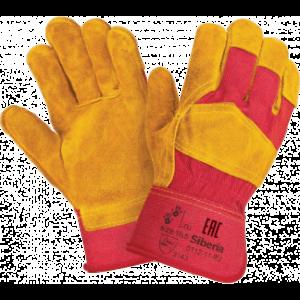 Перчатки СИБИРЬ, (RL1/0112-11-RU/Р2008), спилок, х/б, жесткий манжет, подкладка