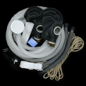 Противогаз шланговый БРИЗ-0301 (ПШ-1С), ШМП-2 шт, шланг ПВХ