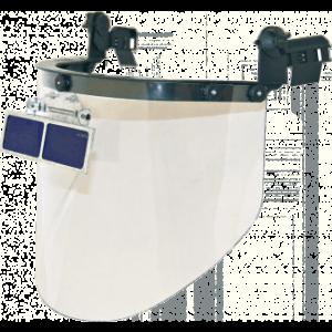 Щиток РОСОМЗ™ КБТ ВИЗИОН TITAN-ОК3 (80353), на каску, с козырьковыми очками