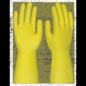 Перчатки ХОЗЯЙСТВЕННЫЕ, латекс, без подложки, 0.36/300мм