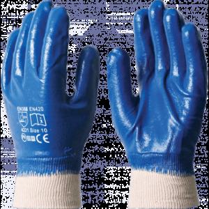Перчатки НИТРИЛОВЫЕ РП, полный облив, резинка