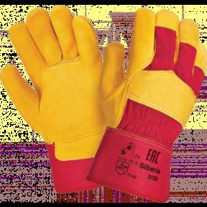 Перчатки СИБИРЬ К, (RL11/3501/3105/Трал К Люкс), кожа, х/б, жесткий манжет, подкладка
