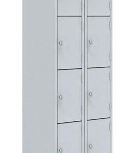 Двухсекционный металлический шкаф для сумок ШРМ - 28