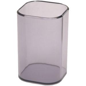 """Подставка-стакан Стамм """"Визит"""", пластик, квадратный, тонированный серый"""