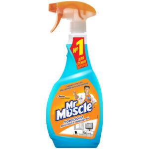 """Средство для мытья стекол и др. поверхн. Mr.Muscle """"После дождя"""" с изопроп.спиртом, 500мл, с курком"""