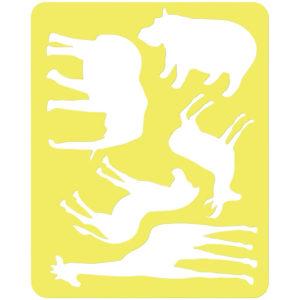 """Трафарет-раскраска контурный, Стамм """"Животные Африки"""", пакет, европодвес"""
