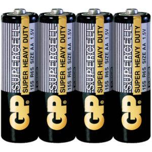 Батарейка GP Supercell AA (R06) 15S солевая, OS4