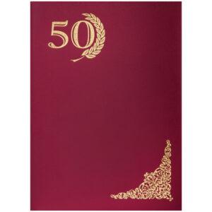 """Папка адресная """"50 лет"""" OfficeSpace, 220*310, бумвинил, инд. упаковка"""