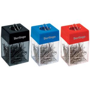 Скрепочница магнитная Berlingo, без скрепок, ассорти, картонная коробка