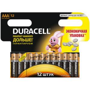 Батарейка Duracell Basic AAA (LR03) алкалиновая, 12BL