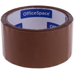 Клейкая лента упаковочная OfficeSpace, 48мм*40м, 38мкм, темная, ШК