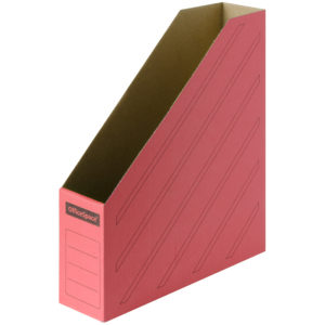 Накопитель-лоток архивный из микрогофрокартона OfficeSpace,  75мм, красный, до 700л.