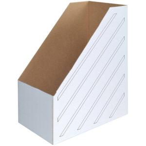 Накопитель-лоток архивный из микрогофрокартона OfficeSpace, 150мм, белый, до 1400л.