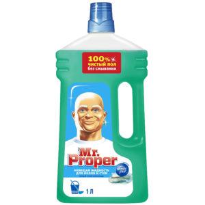 """Средство для мытья полов и стен Mr.Proper """"Горный ручей и прохлада"""", 1л"""