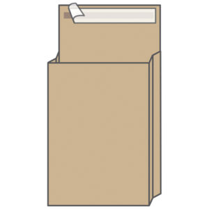 Пакет почтовый B4, KurtStrip, 250*353*40мм, коричневый крафт, отр. лента, 130г/м2
