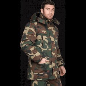 Куртка ТУРИСТ утеплённая, КМФ зелёный