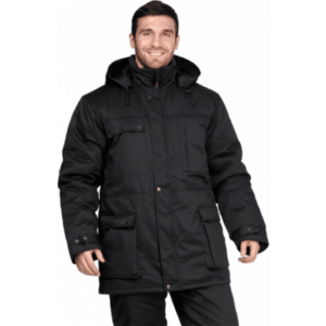 Куртка ЗАЩИТА утеплённая, черная