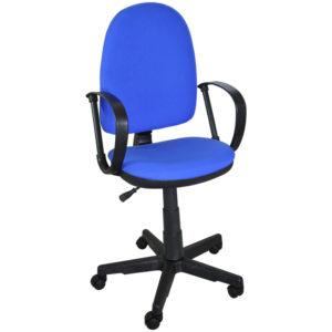 """Кресло оператора """"Престиж"""", ткань синяя В10"""