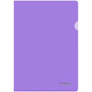 """Папка-уголок Berlingo """"Starlight"""", А4, 180мкм, прозрачная фиолетовая, индив. ШК"""