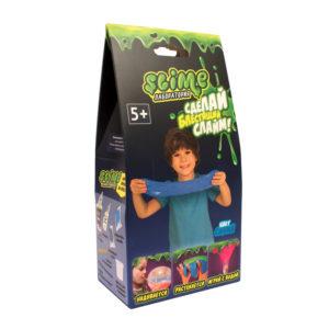 "Набор для создания слайма Slime ""Лаборатория"", для мальчиков, синий, 100г"