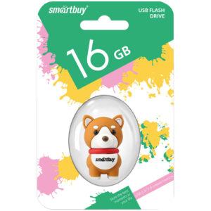 "Память Smart Buy ""Wild series"" Собачка Акита 16GB, USB 2.0 Flash Drive"
