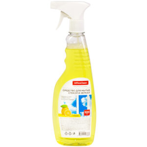 "Средство для мытья стекол и зеркал OfficeClean Professional ""Лимон"" 500мл, с курком"