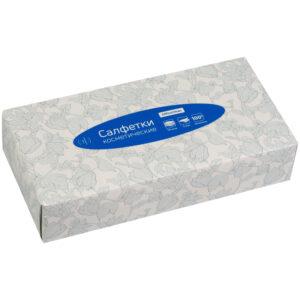 Салфетки косметические OfficeClean, 2-слойные, 20*20см, в картонном боксе, белые, 100шт.