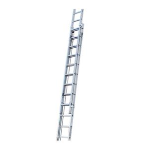 Лестница двухсекционная, выдвигаемая тросом