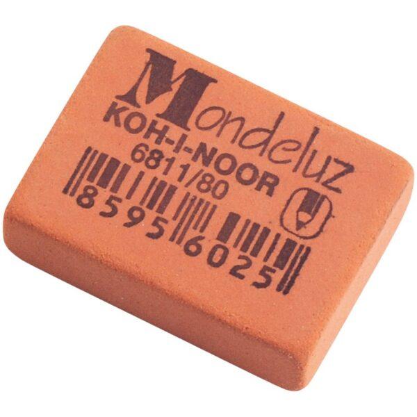 """Ластик Koh-I-Noor """"Mondeluz"""" 80, прямоугольный, натуральный каучук, 26*18,5*8мм"""