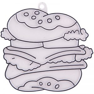 "Трафарет-раскраска витражный малый ""Гамбургер"""