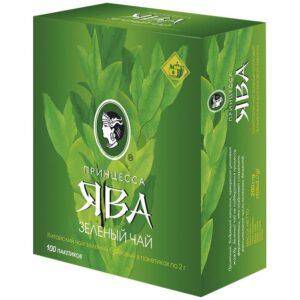 Чай Принцесса Ява, зеленый, 100 пакетиков по 2г