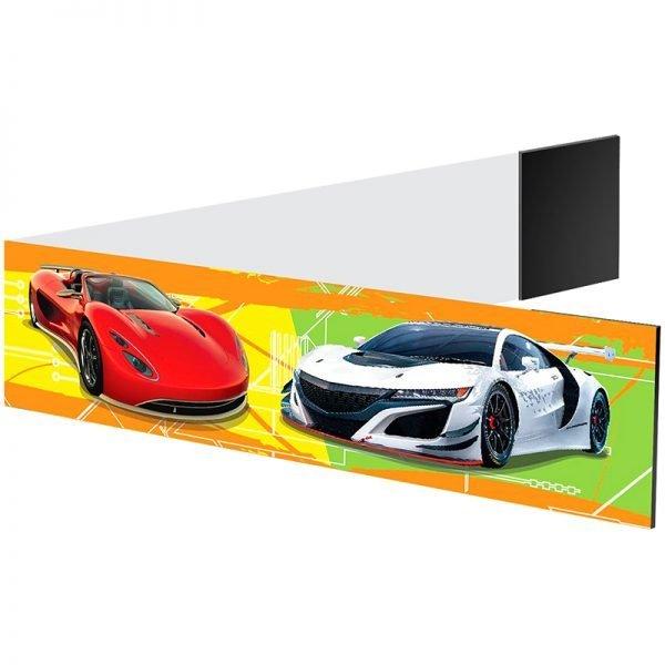 """Закладка - магнит для книг, 25*200мм, ArtSpace """"Спортивные автомобили"""", блестки"""
