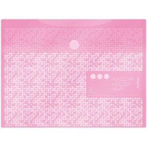 """Папка-конверт на липучке Berlingo """"Starlight S"""", А4, 180мкм, пастель, розовая"""