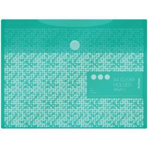 """Папка-конверт на липучке Berlingo """"Starlight S"""", А4, 180мкм, пастель, зеленая"""