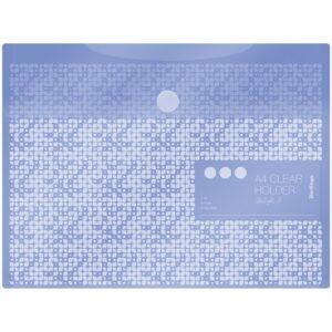 """Папка-конверт на липучке Berlingo """"Starlight S"""", А4, 180мкм, пастель, фиолетовая"""