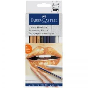 """Набор художественных изделий Faber-Castell """"Classic Sketch"""", 6 предметов, картон. упак."""
