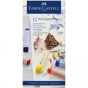 """Пастель Faber-Castell """"Soft pastels"""", 12 цв., картон. упак."""
